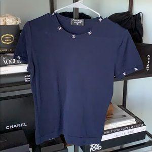 Chanel interlocking CC knit top